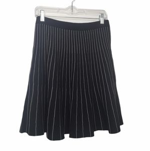 Chelsea & Theodore knit striped flare skirt